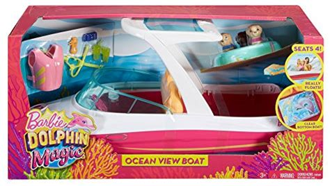 barbie speed boat set barbie dolphin magic ocean view boat playset playset toys