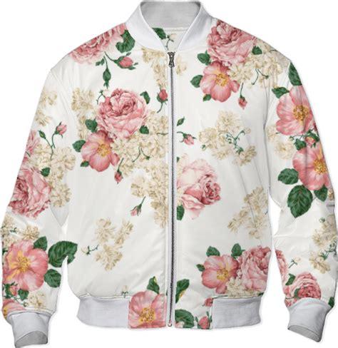 Pink Flower Jacket shop vintage pink floral bomber jacket bomber jacket by r nd0m f 0n print all me
