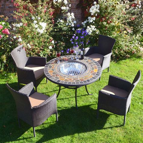 used brown patio furniture durango patio table with 4 brown stockholm chairs