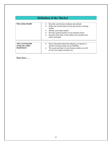 mini business plan template small business plan template 5
