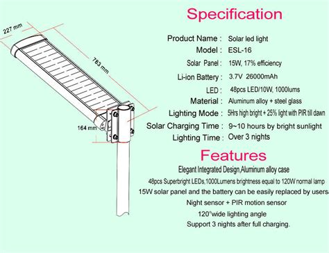 solar light price list mono solar power ce courtyard led light with l