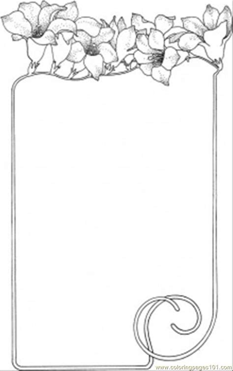 free borders frames coloring pages