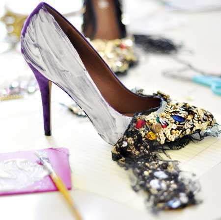 diy sequin shoes diy dolce and gabbana shoes bath and