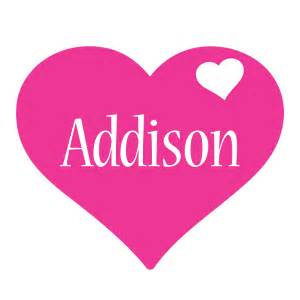 addison logo name logo generator i love love heart