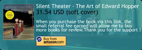 libro silent theater the art silent theater the art of edward hopper book review halcyon realms art book reviews