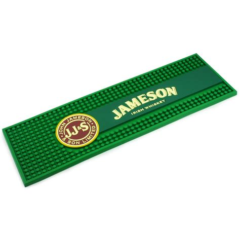 bar top mats jameson whiskey rubber bar mat drinkstuff
