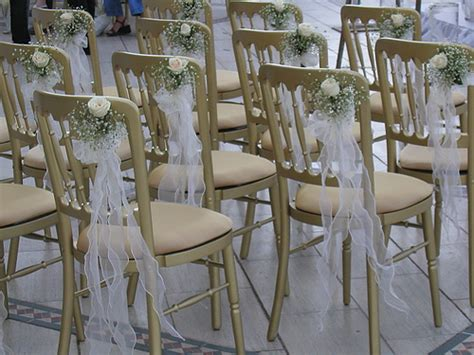 Decorate Metal Folding Chairs by Gorgeous Outdoor Decorations Make Your Wedding A Success