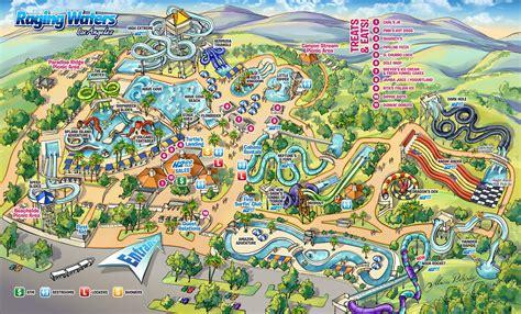 water park map raging waters los angeles