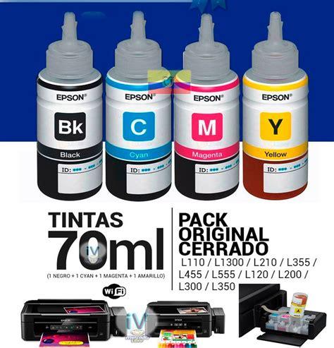 Tinta Original Epson L210 Kit 4 Tinta Original Epson L200 L210 L350 L355 L555