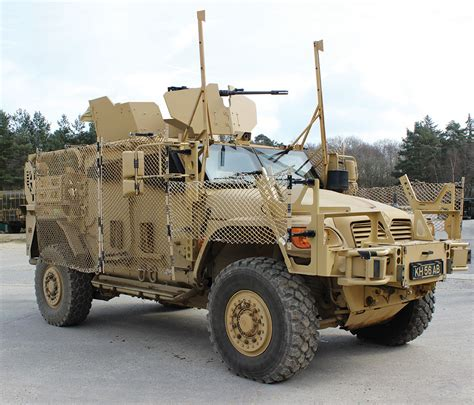 Hummer Husky Army amsafe bridport s tarian rpg armour system on show at dsei
