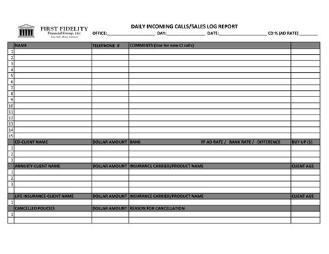 sales log sheet template best photos of daily log sheet template daily work log