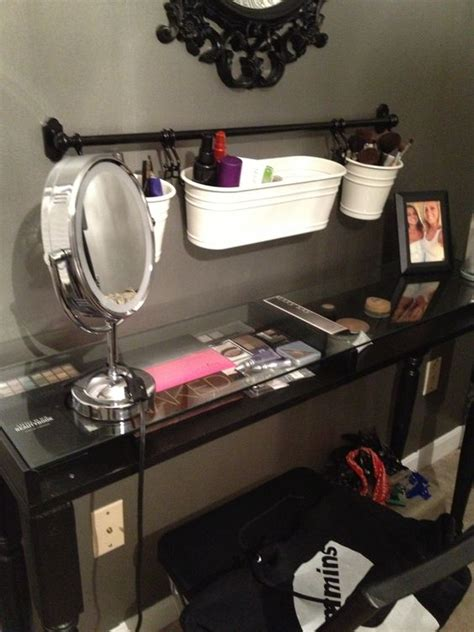 ikea makeup vanity hack maddie s ikea hack makeup table love it pinterest