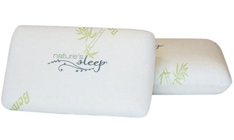 nature s sleep bamboo gel infused memory foam pillows 1