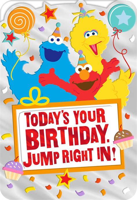 Sesame Street Elmo Big Bird Andokie Monster  Ee  Birthday Ee