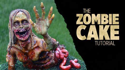 zombie cake tutorial scary zombie cake sugar geek shop