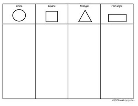 printable shapes for sorting free printable sorting table for shapes learning pinterest
