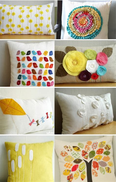 Handmade Tips - bonitas ideas para decorar almohadas con fieltro y tela