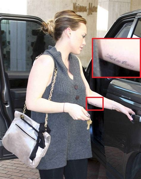 tattoo hilary duff hilary duff tattoos