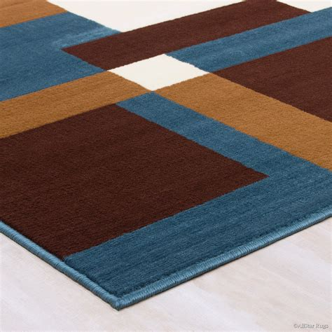 brown area rug allstar rugs woven blue brown area rug wayfair