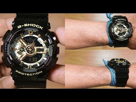 Casio G Shock Original Pria Ga 110gb 1a casio g shock ga 110gb 1a black gold unboxing
