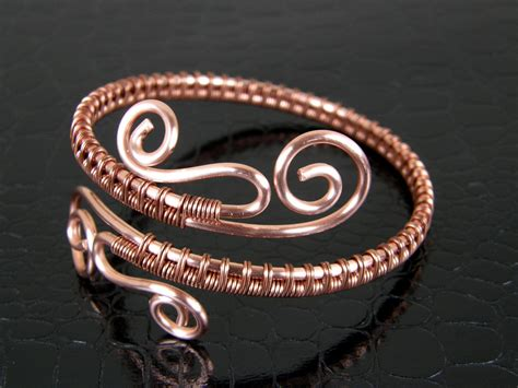 Handcrafted Bangles - copper wire bracelet 020 handmade bracelet copper bangle