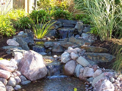 backyard ponds with waterfalls backyard waterfall design ideas