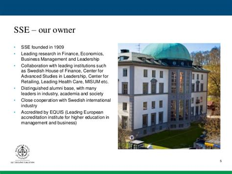 Mba In Hospital Management In Europe by Sse Executive Education Presentation