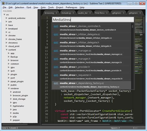 thunderstorm a sublime text theme for web developers using sublime text as your ide the chromium projects