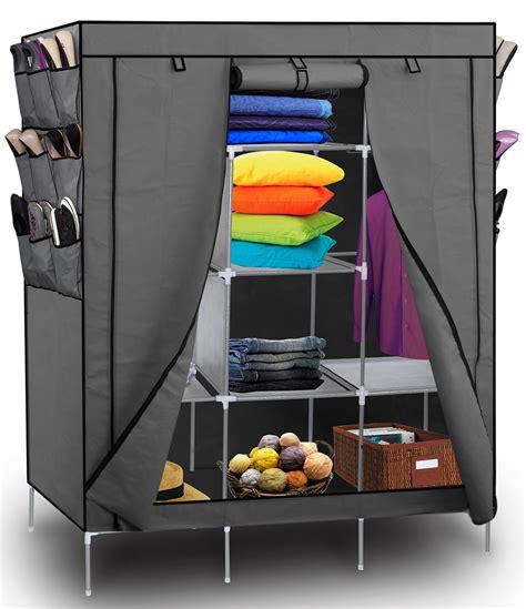 shoe storage for wardrobes portable wardrobe w customizable shelves shoe storage