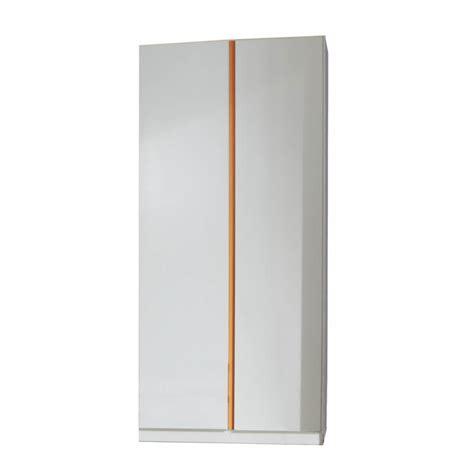 Armoire Contemporaine by Armoire Contemporaine 2 Portes Blanc Alpin Orange Ysalie
