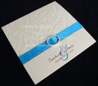 blue ribbon wedding invitations neutral wedding invitations