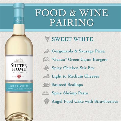 sutter home wine food pairing series sweet white ww