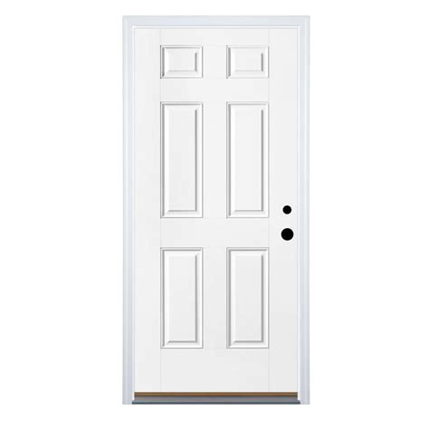 Door Panel by Shop Therma Tru Benchmark Doors 6 Panel Insulating