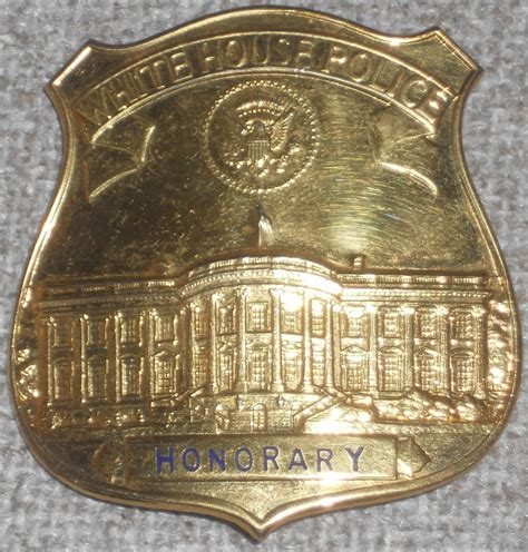 white house police jfk era honorary white house police badge