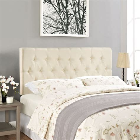 ivory tufted headboard modway clique upholstered button tufted ivory headboard