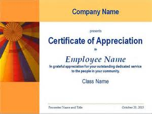 Plaque Of Appreciation Template by 30 Free Certificate Of Appreciation Templates And Letters