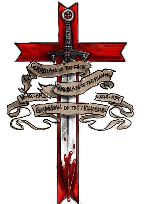crusader cross tattoos member of the templar design by mrrumbles