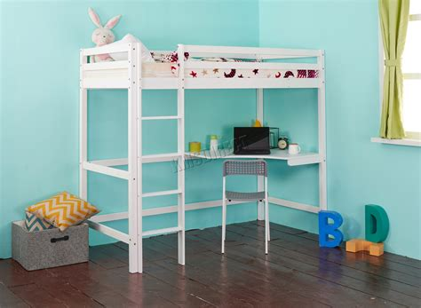 high loft bed with desk westwood high sleeper cabin wood frame bunk bed loft with