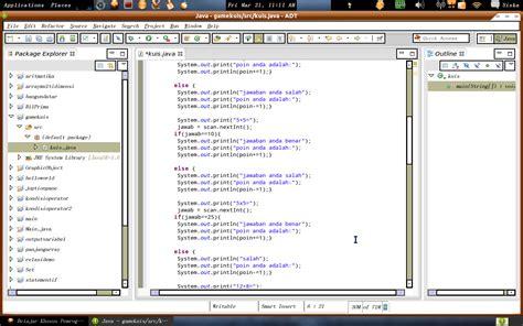membuat game java sederhana java programming game kuis sederhana menggunakan java