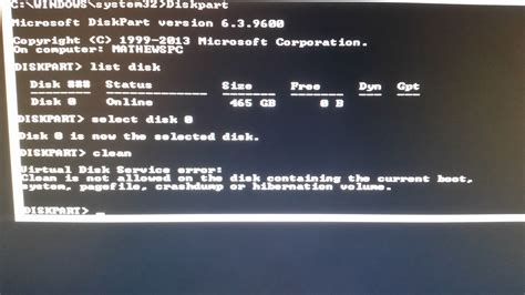 diskpart format stuck windows 8 1 installation cannot complete now stuck at
