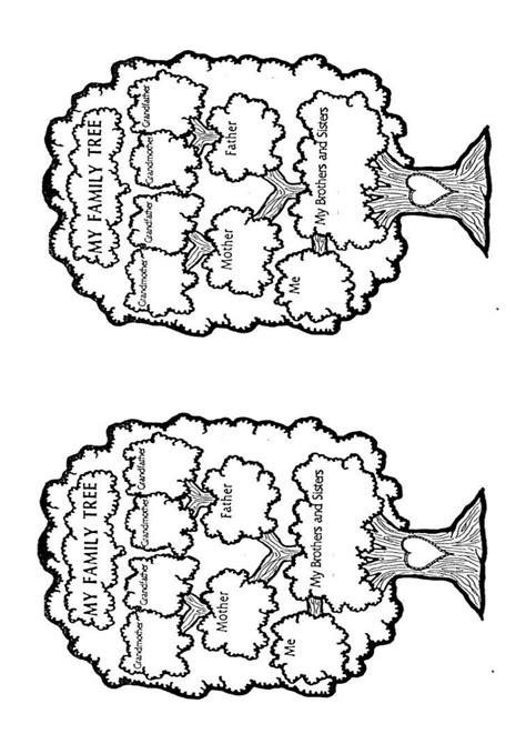 Worksheet family tree