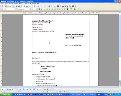 Exemple De Lettre Type Publipostage Lilapuce Publipostage Lettre Ooo