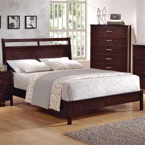 Furniture Ranjang cm ian king low profile bed with cutout headboard michael s furniture warehouse platform or