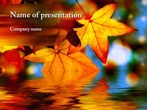 Autumn Leaves Powerpoint Template For Impressive Autumn Powerpoint Background