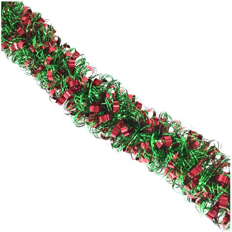 trim a home 174 10 curly tinsel christmas garland in red and