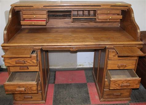 1980 roll top 1980 s oak roll top desk with 10 drawers