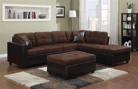 chocolate microfiber sectional chocolate microfiber reversible sectional mallory collection