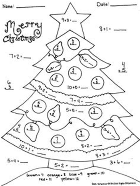 christmas coloring pages for 5th graders christmas coloring addition worksheets christmas