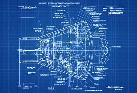 how to make a blueprint mercury spacecraft blueprint space aviation blueprint pilot gift aircraft decor