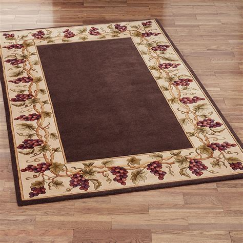 Bordeaux Border Area Rug Area Rugs For Kitchens